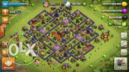 Clash of Clans account lvl 107 with 2580 gems