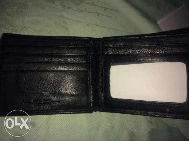 black wallet leather barry smith made in italy محفظة جلد طبيعي