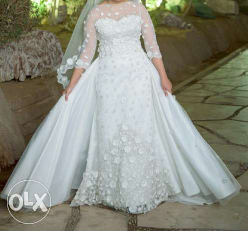 Wedding dress with veil and shoes 2016