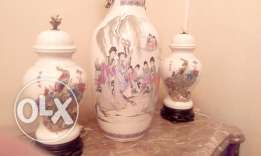 Chinese Colorful Hand Painted Porcelain Vase As a Lamp