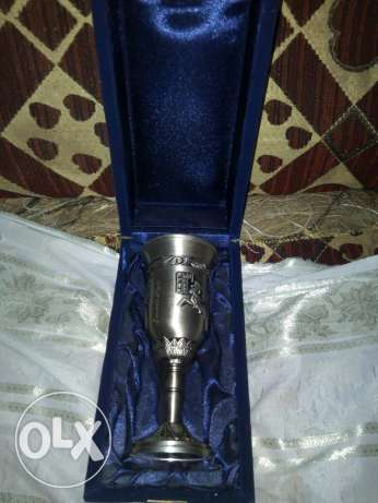Number 2 Cup Silver Plated Pharaonic Engraving