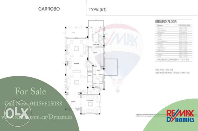 For Sale - Villa 372 m2 Hyde Park 5th Settelement 7,223,000 EGP Hyde P القاهرة الجديدة -  2