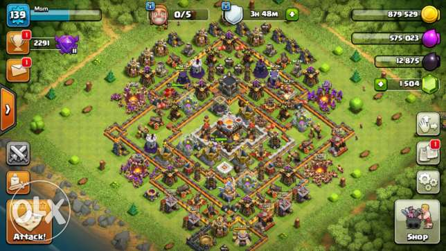 Clash of clans th 11 wall max 11