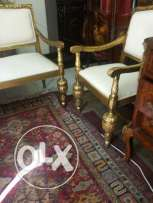 old set sofa & 2 old chairs very nice oiyma old gold u can use it