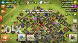 Clash Of Clans lvl 10 account