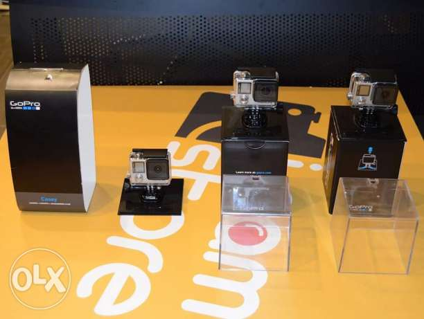 goPro hero 4 black and silver