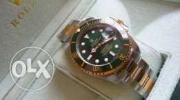 Rolex Green Submariner Two tone