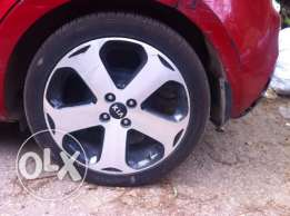 "For exchange rim set size 17"" for Kia Rio model 2013 with 16"" one"
