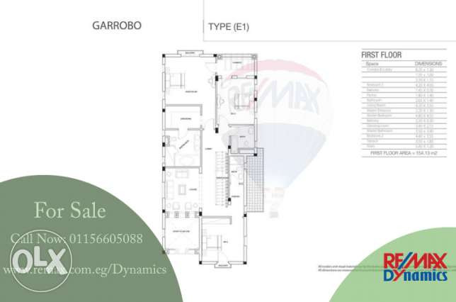 For Sale - Villa 372 m2 Hyde Park 5th Settelement 7,223,000 EGP Hyde P القاهرة الجديدة -  6
