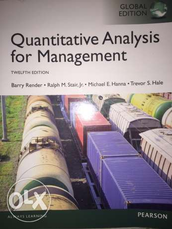 Quantitative Analysis For Management Book New Cairo  Other  Olx Egypt