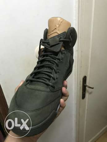 "Air Jordan 5 Retro Prem ""Take Flight"" Sequoia/Gold"