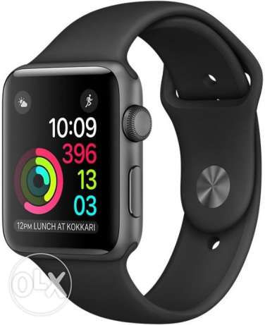 Apple Watch Series 2 - 42mm Space Gray Aluminum Case with Black Sport