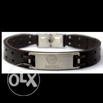 Men's Brown Leather Diesel Bracelet