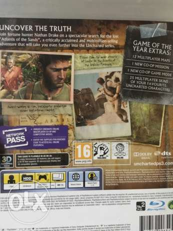 uncharted for PS3 used الوراق -  4
