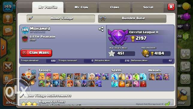 Clash of clans TH-11 almost maxed