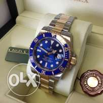 rolex submariner dial blue half gold