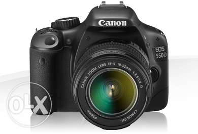 Canon T2I 550D + EF 50mm f/1.8 + EF-S 18-55mm + Filters + Remote Fire