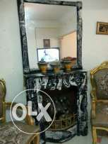 Heater with a mirror as a decor , two bajer chairs