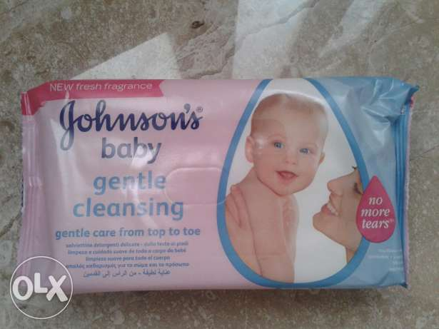 Johnson's baby gentle cleansing wipes