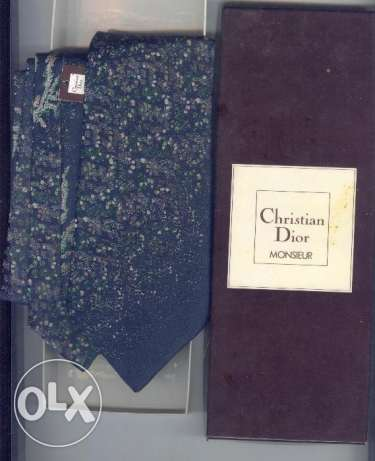 2 neck tie christian dior +dunhill