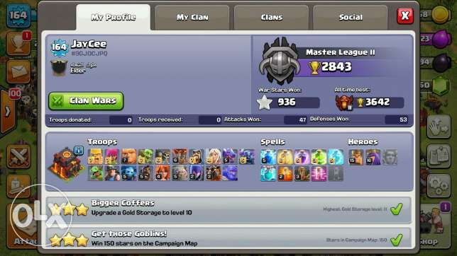 Clash of clans account th10 - coc acc