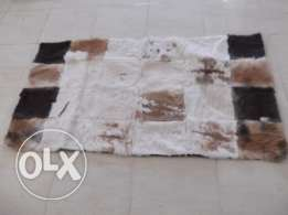 real rabbit fur rug new 140 by 79 cm