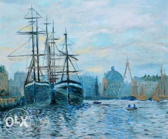 Oil Painting: The Port of Le Havre by Claude Monet