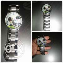 New silver watch