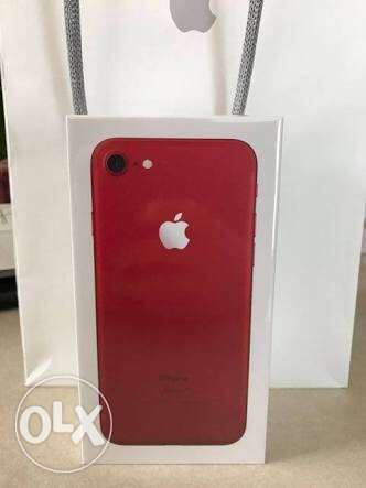 iPhone 7 red facetime 128GB sealed, متبرشم