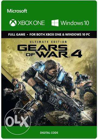 Gears of war 4 xbox one digital code