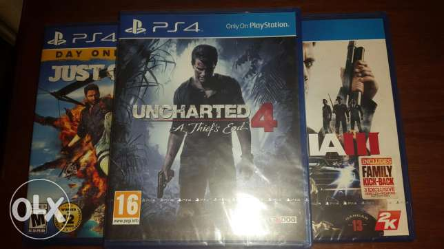 Uncharted 4,Mafia,Just Cause