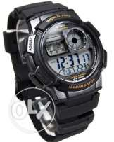 original Casio Digital Black Rubber Watch