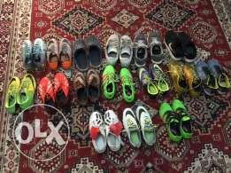 selling soccer and running shoes
