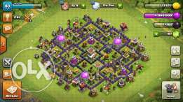 clash of clans account townhall 8