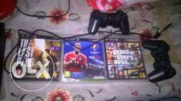2play station 3 with 500 GB + 6 CD Game + 2 Original joystick + 6 Game