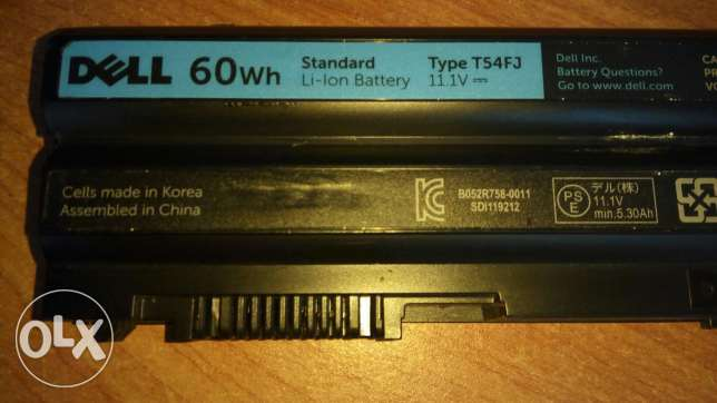Dell used original battery good condition for latitude 64xx