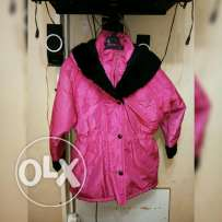 Jacket hot pink water prove
