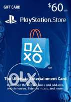 $60 PlayStation Store Gift Card - PSN Card -PS4 / PS3 / PS Vita - Code