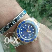 Rolex submariner half gold blue
