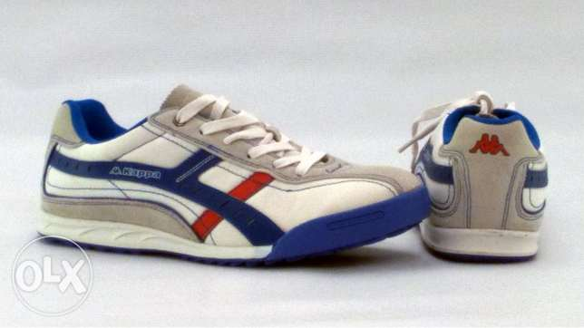 Kappa Trainers (Size 44) - 2 Laces: White - Blue