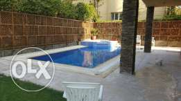 Very elegant fully furnished villa 4 bedrooms in rehab city with pool