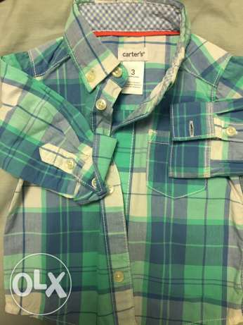 carters baby boy chemise from 3 to 6 months not used الشيخ زايد -  2