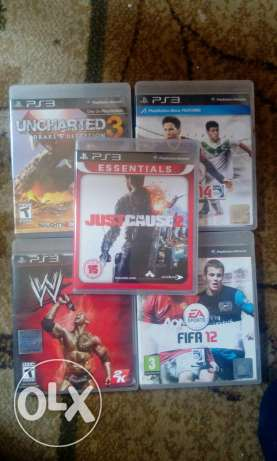 Fifa14,fifa12,2k14, uncharted3, justcause2 on ps3