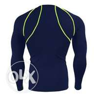 Baleaf Mens Cool Fitness Running Long Sleeve Compression Shirt Navy Si