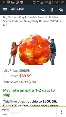 6 inflatable bumper balls & 1 Large inflatable ball