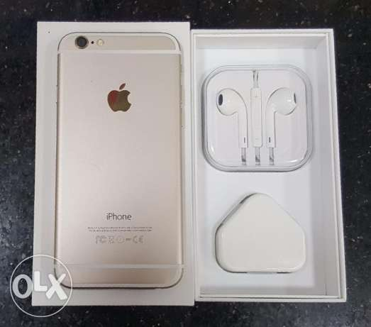 For sale iphone 6 64g gold like new with box and all accouries