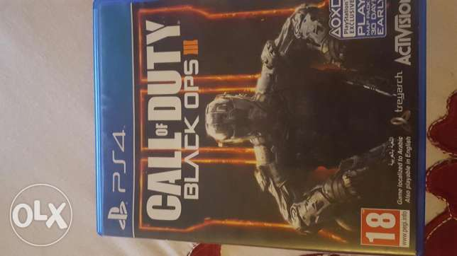 Call of duty black ops 3 arabic used ps4 القاهرة -  1