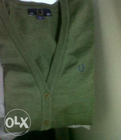 Fred Perry original navy marl cardigan made in italy القاهرة -  1