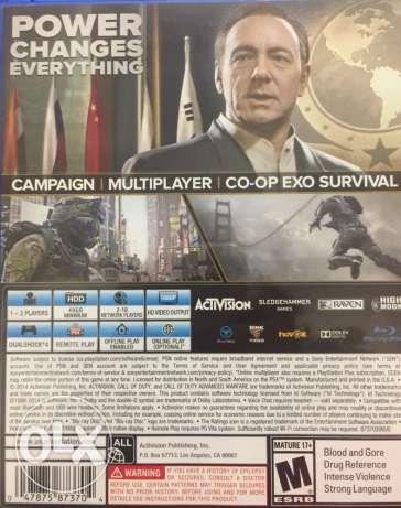 Call of Duty advanced warfare playstation 4 مدينة نصر -  2
