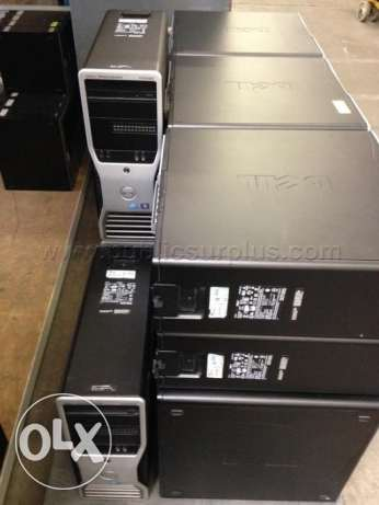 DELL WORKSTATION T5500 XEON X5650سنجل برسيسور 6كور رمات 16 جيجا